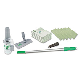 """Unger® Indoor Window Cleaning Kit, Aluminum, 72"""" Extension Pole With 8"""" Pad Holder"""