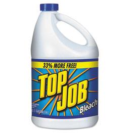 Top Job® Regular Bleach, 1 gal Bottle, 6/Carton