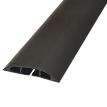 "D-Line® Light Duty Floor Cable Cover, 72"" x 2 1/2"" x 1/2"", Black"
