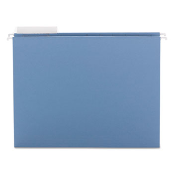 Smead® Color Hanging Folders with 1/3-Cut Tabs, 11 Pt. Stock, Blue, 25/BX
