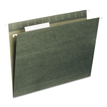 Hanging Folders, 1/3 Tab, 11 Point Stock, Letter, Green, 25/Box