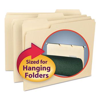 Smead® Interior File Folders, 1/3 Cut Top Tab, Letter, Manila, 100/Box