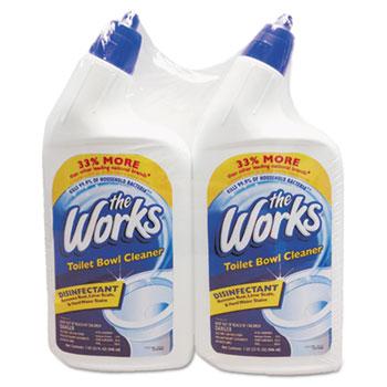 The Works® Disinfectant Toilet Bowl Cleaner, 32 oz Bottle, 2/Pack
