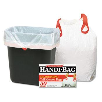 Super Value Pack Trash Bags, 13gal, .69mil, 24 x 27 3/8, White, 50/Box