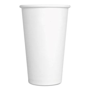 Spring Grove® Paper Hot Cups, 16 oz, White, 1000/Carton