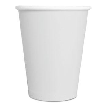 GEN Paper Hot Cups, 8 oz, White, 1000/Carton