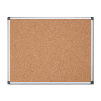 MasterVision® Value Cork Bulletin Board with Aluminum Frame, 48 x 72, Natural
