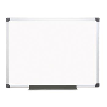 MasterVision® Porcelain Value Dry Erase Board, 36 x 48, White, Aluminum Frame