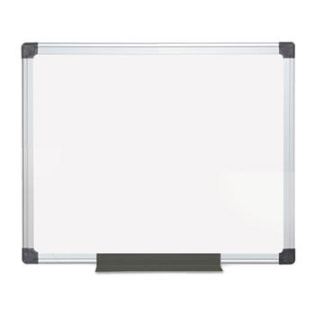 MasterVision® Value Lacquered Steel Magnetic Dry Erase Board, 24 x 36, White, Aluminum Frame