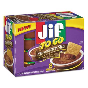 Jif To Go® Spreads, Chocolate Silk, 1.5 oz Cup, 8/Box