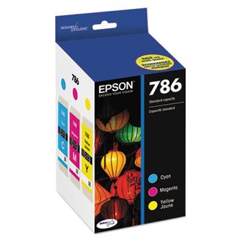 Epson® T786520 (786) DURABrite Ultra Ink, Cyan/Magenta/Yellow