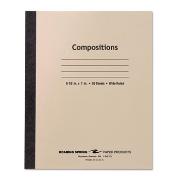 Stitched Composition Book, Legal Rule, 8-1/2 x 7, WE, 20 Sheets