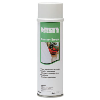 Misty® Handheld Air Sanitizer/Deodorizer, Summer Breeze, 10oz Aerosol, 12/Carton