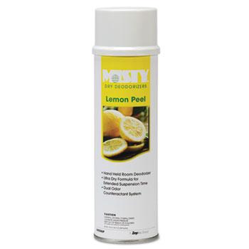 Misty® Handheld Air Sanitizer/Deodorizer, Lemon Peel, 10oz Aerosol, 12/Carton