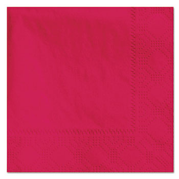 Hoffmaster® Beverage Napkins, 2-Ply, 9 1/2 x 9 1/2, Red, 1000/Carton