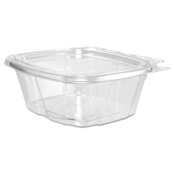 ClearPac Container Lid Combo-Packs, 4.9 x 2.5 x 5.5, 16 oz, Clear, 200/Carton