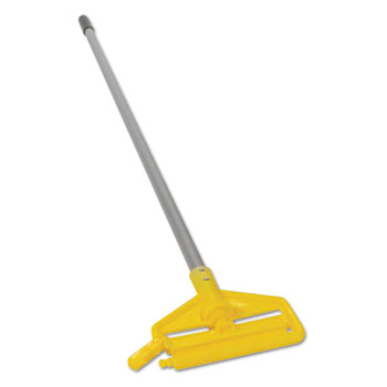Invader Aluminum Side-Gate Wet-Mop Handle, 1 dia x 60, Gray/Yellow
