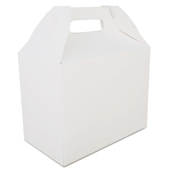 SCT® Carryout Barn Boxes, 8 7/8 x 5 x 6 3/4, White, 150/Carton