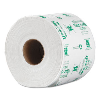 Morsoft Millennium Bath Tissue, 1-Ply, 1500 Sheets, 48 RL/CT