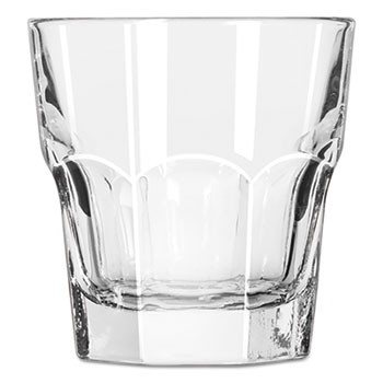 Libbey Gibraltar Rocks Glasses, 7 oz, Clear, 36/Carton