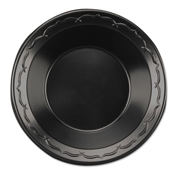 Genpak® Elite Laminated Foam Dinnerware, Bowl, 12oz, Black, 12/Pack, 8 Packs/CT
