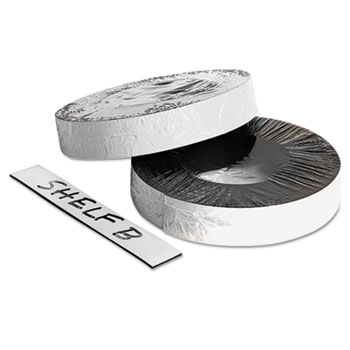 "Baumgartens® Dry Erase Magnetic Label Tape, White,1"" x 50 ft."