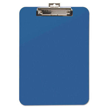 """Baumgartens® Unbreakable Recycled Clipboard, 1/4"""" Capacity, 8 1/2 x 11, Blue"""