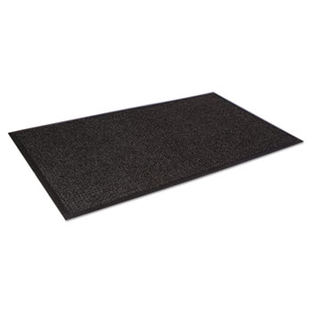 Super-Soaker Wiper Mat w/Gripper Bottom, Polypropylene, 45 x 68, Charcoal