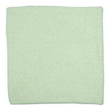 Rubbermaid® Commercial Microfiber Cleaning Cloths, 16 X 16, Green