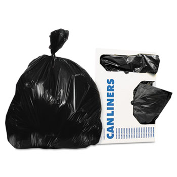 "Heritage Low-Density Can Liners, 12-16 gal., 0.35 Mil, 24"" x 32"", Black, 1000/CT"