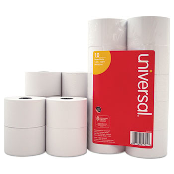 "Universal Impact and Inkjet Print Bond Paper Rolls, 0.5"" Core, 1.75"" x 138 ft, White, 10/Pack"
