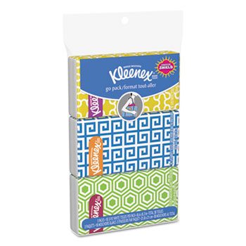 Facial Tissue Pocket Packs, 36 Packs/Carton