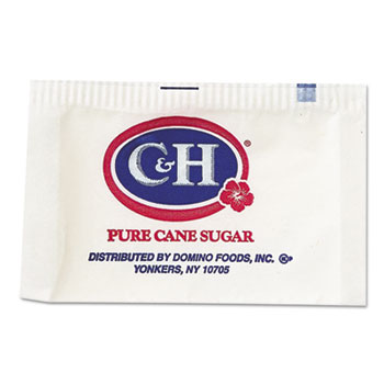 C&H® Granulated Sugar Packets, .10 oz, 2000/Carton