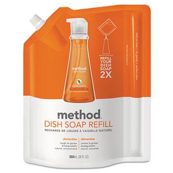 Dish Soap Refill, 36 oz. Pouch, Clementine Scent