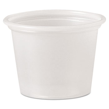 Polystyrene Portion Cups, 1 oz, Translucent, 2500/Carton