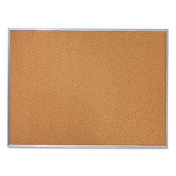 Cork Bulletin Board, 36 x 24, Silver Aluminum Frame
