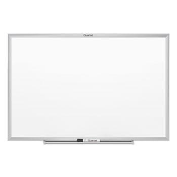 "Quartet® Classic Melamine Whiteboard, 24"" x 18"", Silver Aluminum Frame"