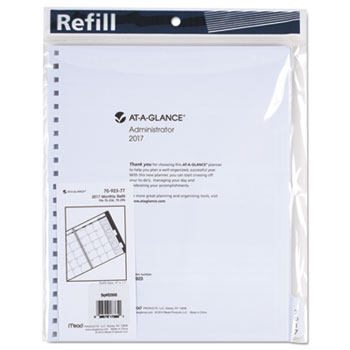 """AT-A-GLANCE® Three/Five-Year Monthly Planner Refill, 9"""" x 11"""", White, 2021"""