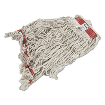 Rubbermaid® Commercial Swinger Loop Wet Mop Heads, Cotton/Synthetic, White, X-Large, 6/Carton