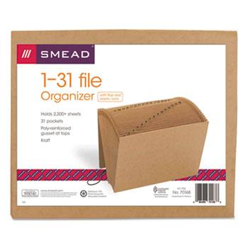 Smead® 1-31 Indexed Expanding Files, 31 Pockets, Kraft, Letter, Kraft