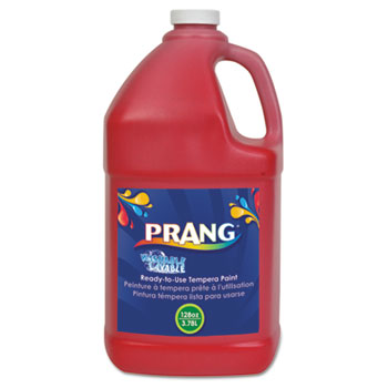 Prang® Washable Paint, Red, 1 gal