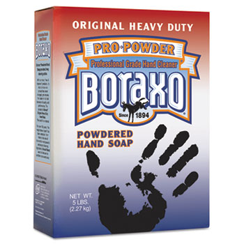 Boraxo® Powdered Original Hand Soap, Unscented Powder, 5lb Box, 10/Carton
