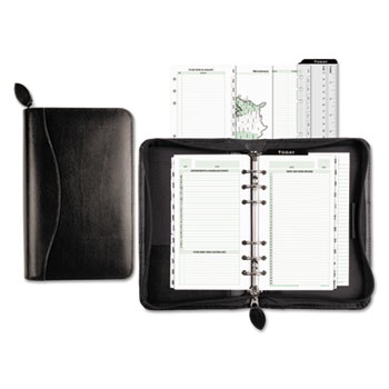 Day-Timer® Recycled Bonded Leather Starter Set, 3 3/4 x 6 3/4, White