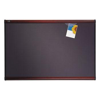 Quartet® Prestige Bulletin Board, Diamond Mesh Fabric, 48 x 36, Gray/Mahogany Frame