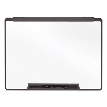 Quartet® Motion Portable Dry Erase Board, 24 x 18, White, Black Frame