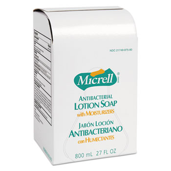 GOJO® Antibacterial Lotion Soap Refill, Liquid, Light Scent, 800mL, 12/CT