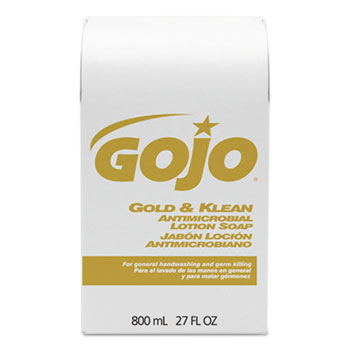 Gold & Klean Antimicrobial Lotion Soap Bag-in-Box Dispenser Refill, Floral Balsam, 800mL