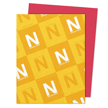 """Astrobrights® Colored Cardstock, 8 1/2"""" x 11"""", 65 lb./176 gsm., Re-Entry Red™, 250/PK"""