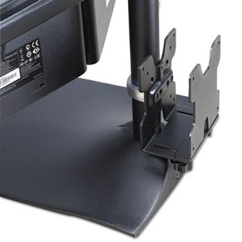 Ergotron® Thin Client Mount, 4 to 9 x 7/8 to 2 3/8 x 6 7/8, Black