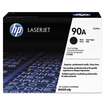 90A (CE390A) Toner Cartridge, Black